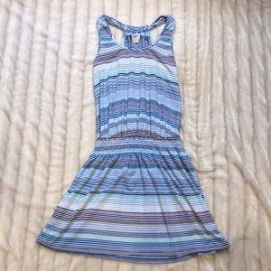 Mossimo blue striped tank dress, size medium.